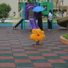 东莞社区安全地垫 小区安全地胶 公园广场橡胶地垫
