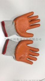 本白棉纱大平胶手套(960g/打)  丁腈手套