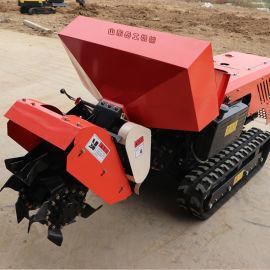 厂家直销遥控履带耕地机 大棚专用无人驾驶耕地机