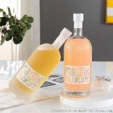 玻璃果酒瓶透明桑葚酒瓶生產加工