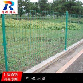 **绿色铁丝双边丝护栏网生产厂家