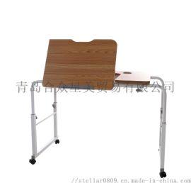 跨床学习桌 学习桌 电脑桌 桌子 可调节高度桌子
