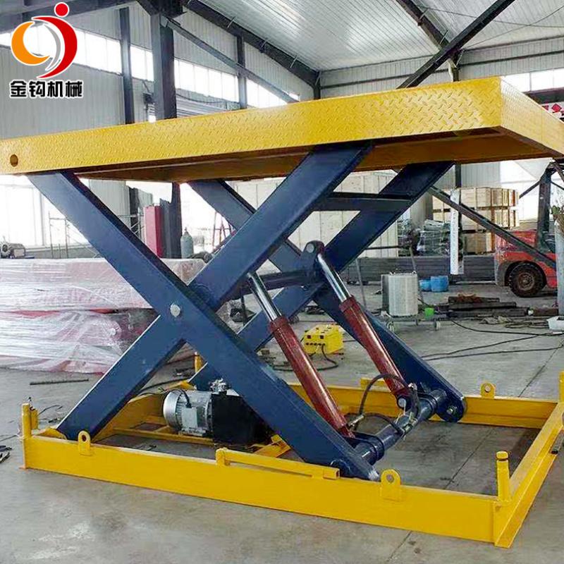 固定式电动液压升降平台 仓库冷库装货设备
