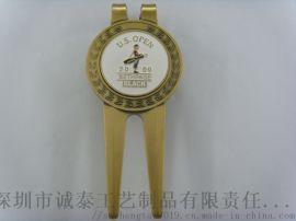 厂家直销高尔夫球叉金属高尔夫球叉广东电镀烤漆球叉