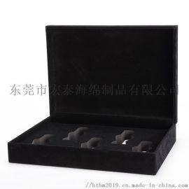 黑色植绒EVA内衬包装盒 **化妆品礼盒EVA内托