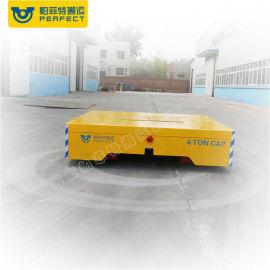电瓶供电轨道车可转弯 平板运输车电动上料轨道车