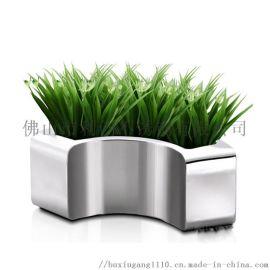 园艺耐摔彩色不锈钢环保植物花盆