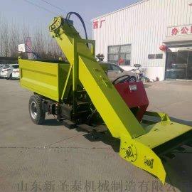 柴油四驱液压升降铲粪车 自产自销全自动清粪车