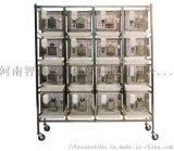 不鏽鋼幹養式大鼠籠架/4層16籠大鼠籠架