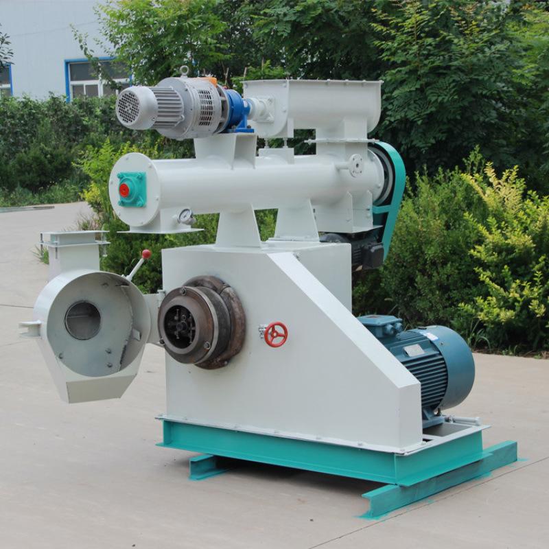 HKJ250饲料加工设备、卧式环模饲料颗粒机