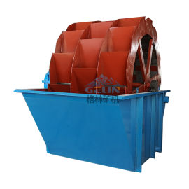 矿山用水轮式洗砂机 河卵石轮斗洗石设备