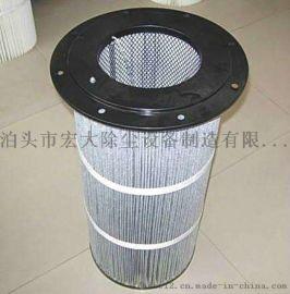 覆膜防静电除尘滤芯 炼钢厂除尘滤筒 除尘滤芯