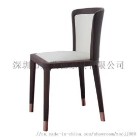 新中式实木餐椅定做,酒店餐厅椅子,高靠背餐椅定制