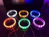 汽車大燈雙光透鏡加裝LED寶馬光導天使眼