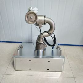 新品不锈钢铸造电动炮 前置水车自动洒水炮驾驶室操作