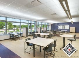 德国VS国际学校家具Lincoln Middle School,学生课桌椅