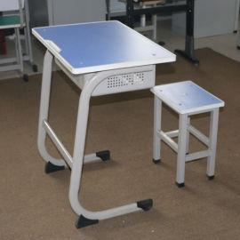 单人学生课桌椅 培训辅导班课桌椅 课桌椅厂家