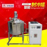 不鏽鋼牛奶製冷罐機組 密封攪拌罐 不鏽鋼夾層冷卻缸
