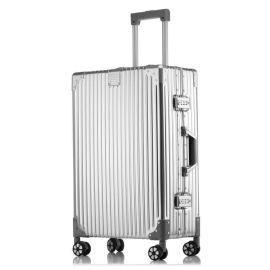 新款时尚铝镁合金拉杆箱行李箱工厂直销方振箱包