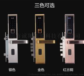 厂家直销智能指纹密码刷卡锁远程控制不锈钢防盗门锁
