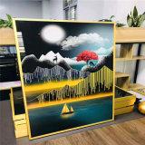 展览馆UV打印铝单板 体验馆彩绘背景墙艺术铝板