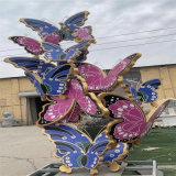 广州庭院景观蝴蝶雕塑 仿真彩***雕塑模型