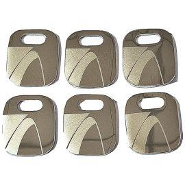 厂家定制金属吊牌箱包吊坠制作镭射金属牌定做质量优越