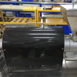 3K碳素纤维板隔热罩 挤出机防护隔热罩