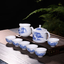 景德镇陶瓷礼品茶具 手绘青花陶瓷茶具套装