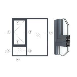 兴发铝材创高AL55W14A|24A系列外平开窗