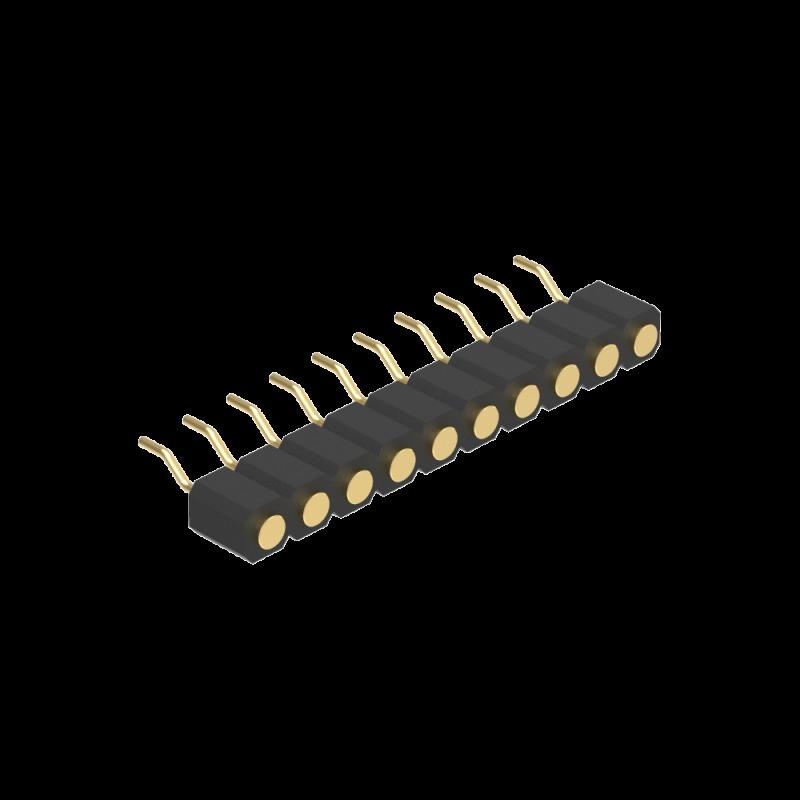 3.00MM H4.0 单排90度SMT 平 面接触 不帯柱