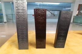 大规格型材仿古铝方管 扁型木纹墙身铝方管定制