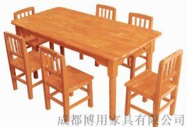 成都幼儿园课桌椅定制 成都实木儿童课桌椅厂家直供