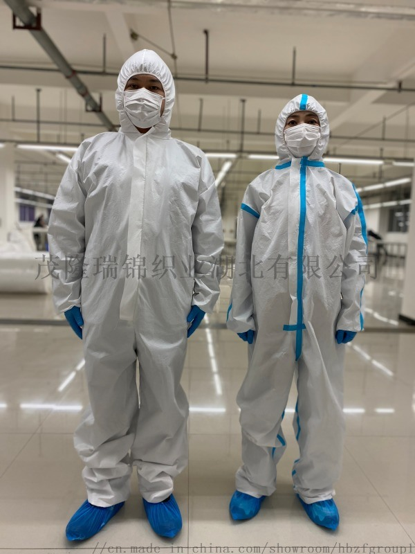 厂家直销一次性白色非医用无纺布连体连帽防护服隔离衣
