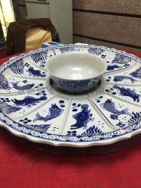 抖音同款创意拼盘家用餐具套装海鲜菜盘组合酒店陶瓷