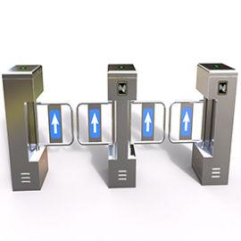 辦公樓**人臉識別測溫速通不鏽鋼擺閘門