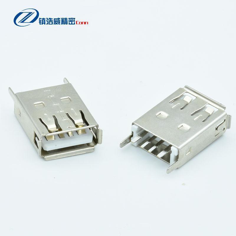 USB连接器 单层直插 4P 母座