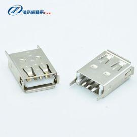 USB連接器 單層直插 4P 母座