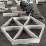 幕牆造型鋁型材六邊形鋁天花/造型吊頂鋁格柵天花