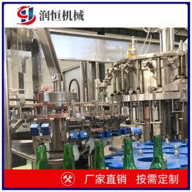 三合一小瓶灌装机 玻璃瓶灌装生产线