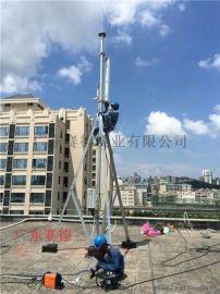 深圳赛德定制加工小区楼顶5G通信基站抱杆5G信号发射塔5G杆