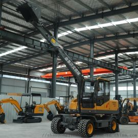 山东轮式挖掘机厂家 小型轮挖型号JK-75轮挖售价