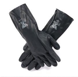 耐酸鹼溶劑防化手套耐油工業勞保手套氯丁橡膠防護手套