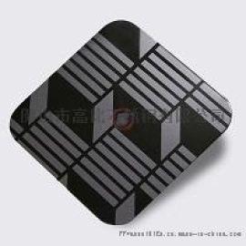镜面黑钛不锈钢蚀刻板 **黑钛板蚀刻不锈钢板