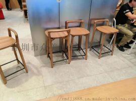 餐厅吧台椅定做厂家,实木高脚椅,酒吧椅子铁艺吧椅