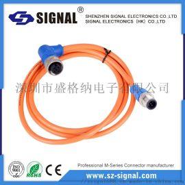盛格纳电子 M12 成型式防水连接器