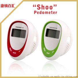 功能计步器绑在鞋带上的计步器户外运动电子计步器
