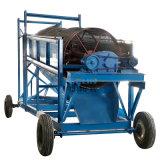 无轴滚筒筛沙土机 移动筛分除杂设备