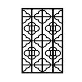 别墅铝窗花隔断装饰材料木纹铝窗花酒店镂空铝窗花定制