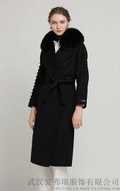 一般去服装厂怎么拿货庄丽欣单排扣双面羊毛羊绒呢